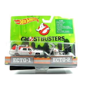 OS CAÇA FANTASMAS ECTO-1 E ECTO-2 GHOSTBUSTERS HOT WHEELS HOTDRW73