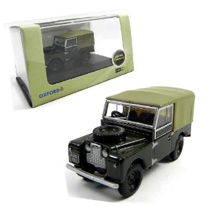 "BRONZE GREEN LAND ROVER 88"" CANVAS 1/76 OXFORD OXF76LAN188009"