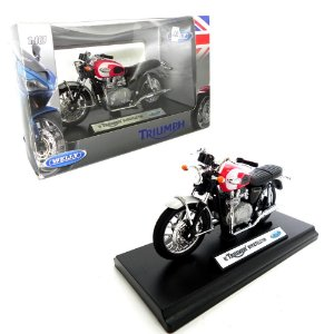 MOTO 2002 TRIUMPH BONNEVILLE T100 1/18 WELLY TR-19660-PW