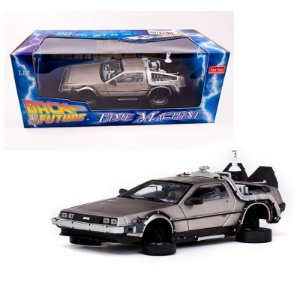 DELOREAN TIME MACHINE BACK TO THE FUTURE (DE VOLTA PARA O FUTURO) 1/18 SUN STAR 2710 SUN2710