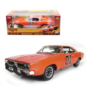 1969 DODGE CHARGER THE GENERAL LEE OS GATÕES (POSSUI BANDEIRA CONFEDERADA) 1/18 AUTO WORLD AMM964