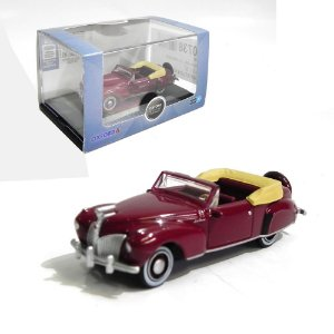 1941 LINCOLN CONTINENTAL MARRON 1/87 OXFORD 87LC41001 OXF87LC41001