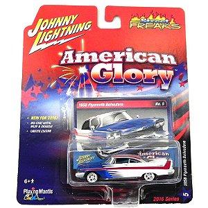 1958 PLYMOUTH BELVEDERE 1/64 JOHNNY LIGHTNING STREET FREAKS AMERICAN GLORY RELEASE 1 JLSF001