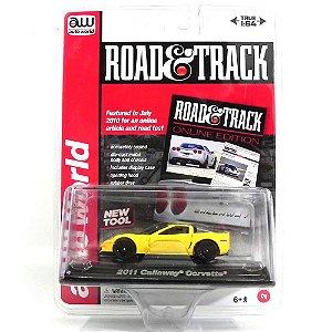 2011 CALLAWAY CORVETTE 1/64 AUTO WORLD ROAD & TRACK AW64003