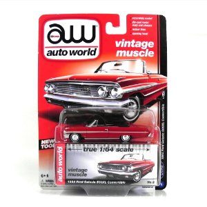 1964 Ford Galaxie 500Xl Convertible 1/64 Auto World Aw64022