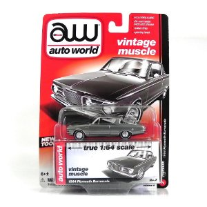 1964 PLYMOUTH BARRACUDA 1/64 AUTO WORLD AW64032