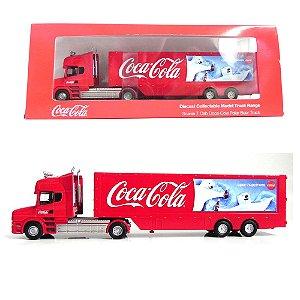 Caminhão Da Coca-Cola Urso Polar Scania T Cab 1/76 Oxford 76Tcab005Cc Oxf76Tcab005Cc