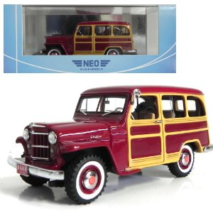1954 JEEP WILLYS STATION WAGON 1/43 NEO SCALE MODELS 44644 NEO44644