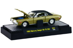 1968 MERCURY COUGAR XR-7G 390 1/64 M2 MACHINES 32600 RELEASE 34 DETROIT-MUSCLE M2M32600-34H
