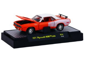 1971 Plymouth Hemi Cuda 1/64 M2 Machines 32600 Release 34 Detroit-Muscle M2M32600-34H