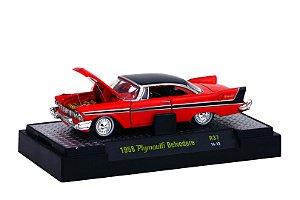1958 PLYMOUTH BELVEDERE 1/64 M2 MACHINES 32500 RELEASE 37 AUTO-THENTICS M2M32500-37H