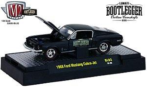 1968 Ford Mustang Cobra-Jet 1/64 M2 Machines 32600 Release Bl02 Lunati Bootlegger M2M32600-Bl02B