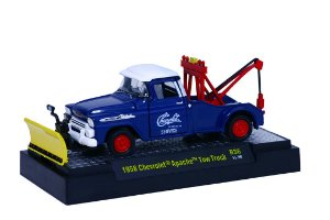 1958 CHEVROLET APACHE TOW TRUCK GUINCHO 1/64 M2 MACHINES 32500 RELEASE 36 AUTO-TRUCKS M2M32500-36H