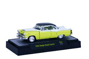 1955 DODGE ROYAL LANCER 1/64 M2 MACHINES 32500 RELEASE 35 AUTO-THENTICS M2M32500-35H