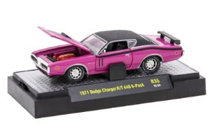 1971 DODGE CHARGER R/T 440 6-PACK 1/64 M2 MACHINES 32600 RELEASE 35 DETROIT-MUSCLE M2M32600-35H