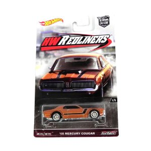 1968 MERCURY COUGAR 1/64 HOT WHEELS HW REDLINERS HOTDWH82-L510