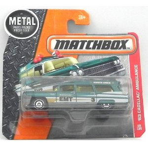 1963 CADILLAC AMBULANCE 1/81 MATCHBOX MATCHDMH17-CD10