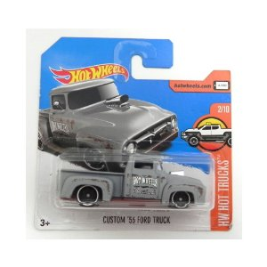 CUSTOM 56 FORD TRUCK 1/64 HOT WHEELS HW HOT TRUCKS HOTDTX35-D5B6