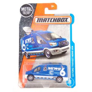 2014 FORD TRANSIT NEWS VAN 1/64 MATCHBOX