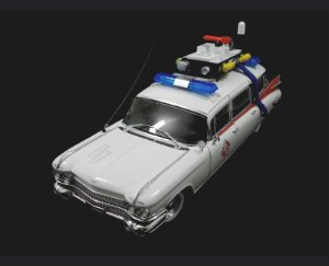 CADILLAC ECTO-1 OS CAÇA FANTASMAS GHOSTBUSTERS 1/18 HOT WHEELS BCJ75