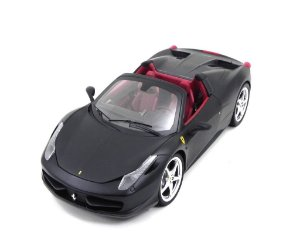 Ferrari 458 Spider Black 1/18 Hot Wheels Elite X5485