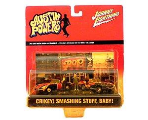 DIORAMA AUSTIN POWERS CRIKEY! SMASHING STUFF BABY! 1/64 JOHNNY LIGHTNING
