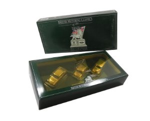 BRITISH MOTORING CLASSICS 1960'S 24 CARAT GOLD PLATED SET 1/43 LLEDO