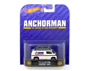 1977 Custom Dodge Van Anchorman 1/64 Hot Wheels Bdt98