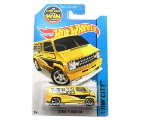 1977 CUSTOM DODGE VAN 1/64 HOT WHEELS HW CITY CFH46-09B1F