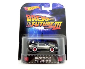 1955 BACK TO THE FUTURE III DELOREAN DE VOLTA PARA O FUTURO III 1/64 HOT WHEELS CFR30-D718