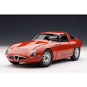 1963 ALFA ROMEO GIULIA TZ VERMELHA 1/18 AUTO ART 70196