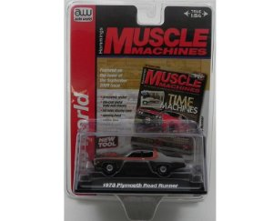 1973 PLYMOUTH ROAD RUNNER 1/64 AUTO WORLD AW64023B