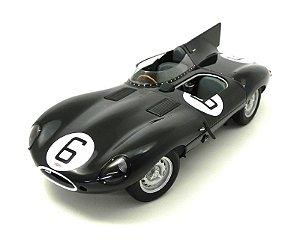 1955 JAGUAR D-TYPE LEMANS 24 HR RACE WINNER J.M.HAWTHORN/I.L.BUEB #6 1/18 AUTO ART 85586