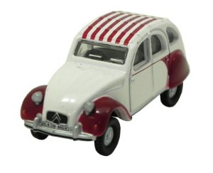 DOLLY RED WHITE CITROEN 2CV 1/76 OXFORD 76CT003 OXF76CT003