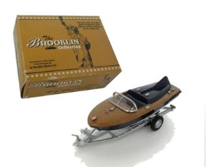 1955 LANCHA CLASSIC AMERICAN SPEEDBOAT WITH TRAILER 1/43 BROOKLIN 71