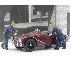 Diorama Ferrari 125 S Fabbrica Ferrari 1947 1/43  Brumm As50