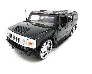 2003 Hummer H2 Preto 1/24 Jada Toys 90403