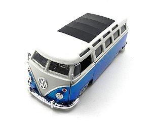 1962 Volkswagen Kombi Bus Van Azul 1/24 Jada Toys 91693