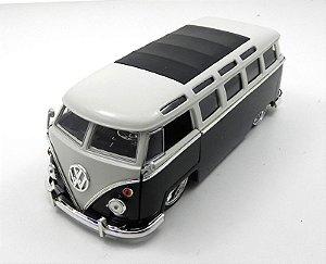 1962 Volkswagen Kombi Bus Van Preto 1/24 Jada Toys 91693