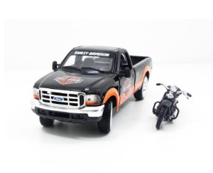 1999 FORD F-350+HARLEY SUPER DUTY 1/27 MAISTO 32172