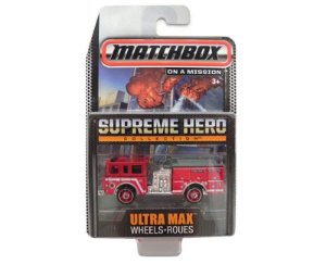 PIERCE DASH ULTRA MAX WHEELS ROUES SUPREME HERO COLLECTION 1/64 MATCHBOX CGG00-0814