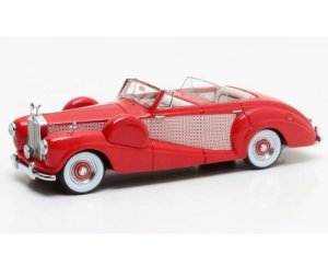 1954 ROLLS-ROYCE FREESTONE & WEBB 4-DOOR CONVERTIBLE ON RR SILVER WRAITH CHASSIS WLE27 RED 1/43 MATRIX 51705-261