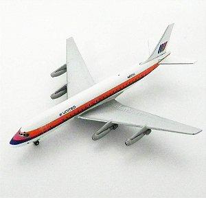 AVIÃO DC-8-21 UNITED AIRLINES N8005U 1/400 GEMINI JETS GJUAL091