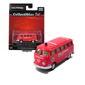 Volkswagen Kombi Classico Corpo De Bombeiros 1/64 Greenlight California Collectibles 64 18018-2