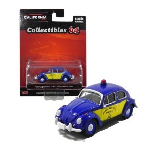 Volkswagen Fusca Classico Policia Rodoviaria 1/64 Greenlight California Collectibles 18018-2