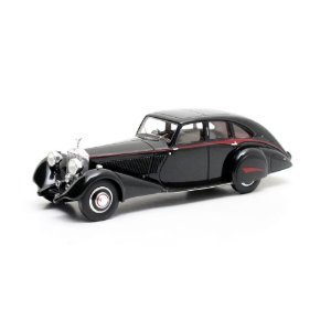 1934 ROLLS-ROYCE PHANTOM II CONTINENTAL PARK WARD STREAMLINE CHASSIS #86SK ZWART 1/43 MATRIX MX41705-131