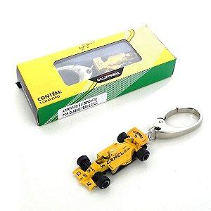 Chaveiro Ayrton Senna Lotus Califórnia Toys 1/87 Premium Pct003