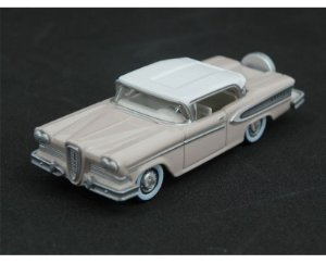 1958 EDSEL CITATION CHALK PINK FROST WHITE 1/87 OXFORD 87ED58003