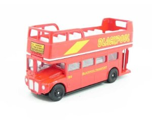 ÔNIBUS AEC ROUTEMASTER OPENTOP BLACKPOOL SIGHTSEEING 1/76 OXFORD RM099