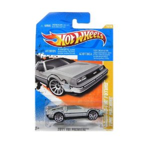 DELOREAN TIME MACHINE DE VOLTA PARA O FUTURO 1/64 HOT WHEELS T9688-07A0
